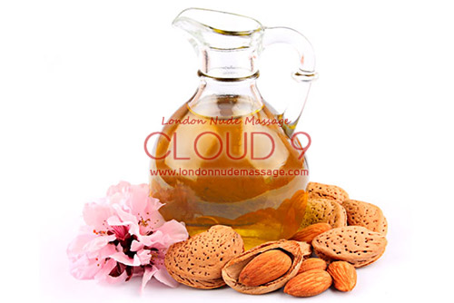 Sweet almond sensual massage oil