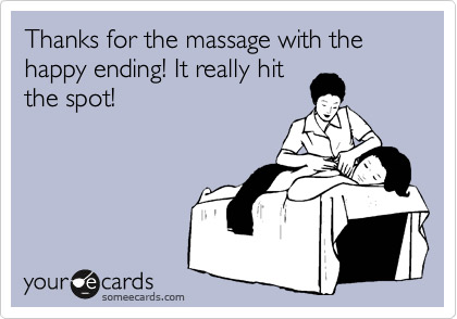 happy ending massage for happy customer